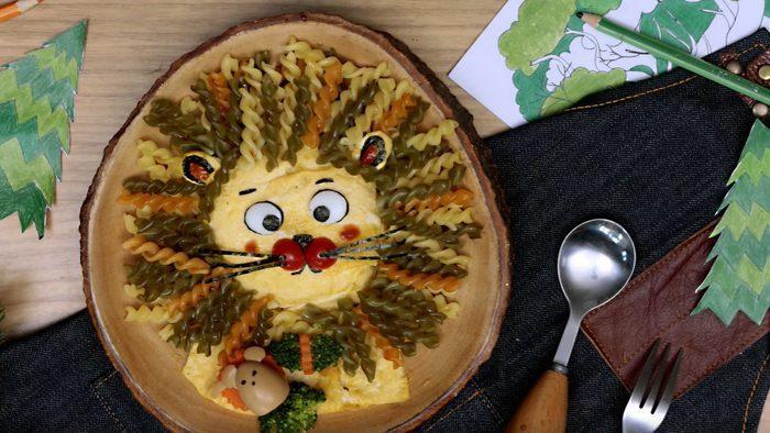 วิธีทำ เส้นพาสต้ากับไข่ทอด ไอเดียจากนิทานอีสป ราชสีห์กับหนู