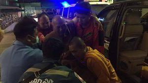 หลวงพ่ออลงกต ปลอดภัยแล้ว หลังประสบอุบัติเหตุรถชน ที่ลพบุรี