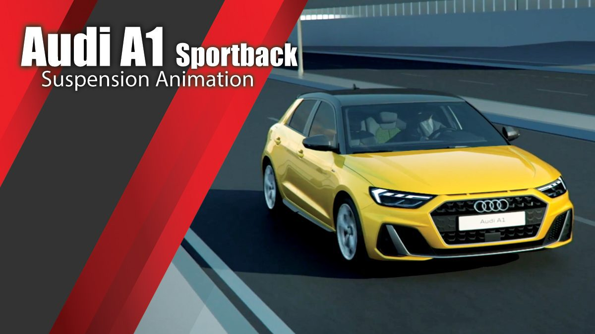 Audi A1 Sportback suspension Animation