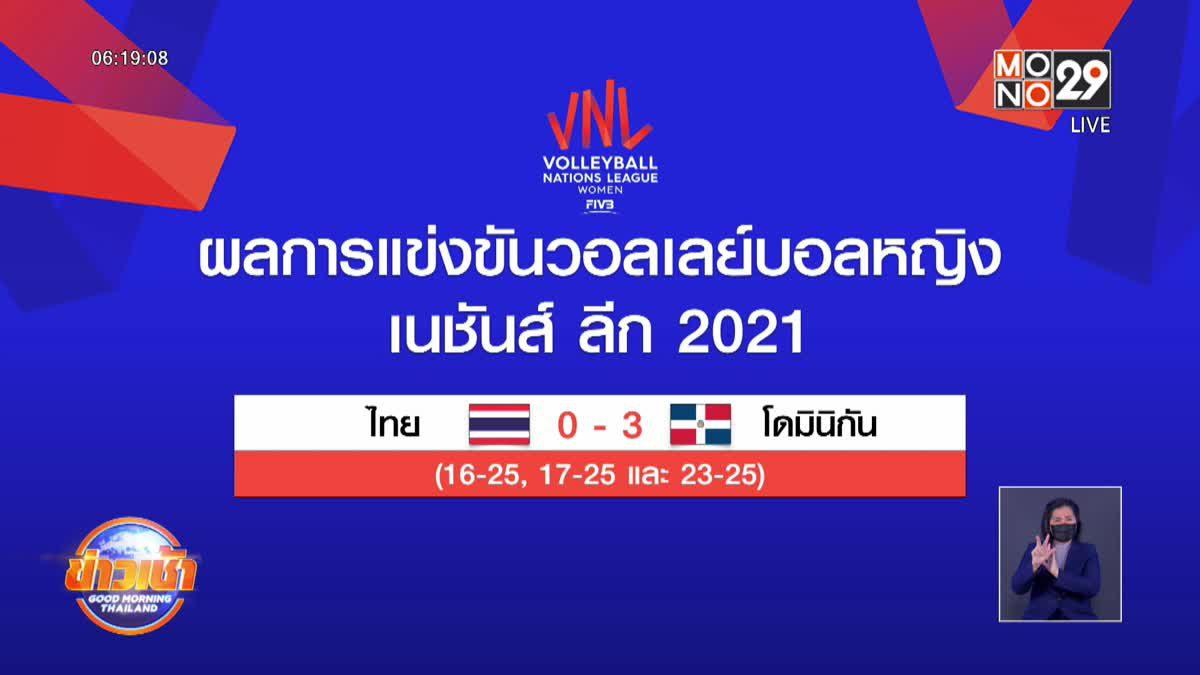 ลูกยางสาวไทยพ่ายโดมินิกันปิดฉากเนชั่นส์ลีกวีค3