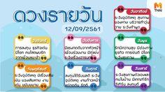 ดูดวงรายวัน ประจำวันพุธที่ 12 กันยายน 2561 โดย อ.คฑา ชินบัญชร