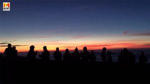 8 องศาฯ ที่ดอยอินทนนท์ นักท่องเที่ยวได้ชมทะเลหมอกสมใจ