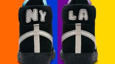 ความสวยงามของสองวัฒนธรรมจากสองเมืองบนรองเท้า Nike Blazer Mid NYC vs LA