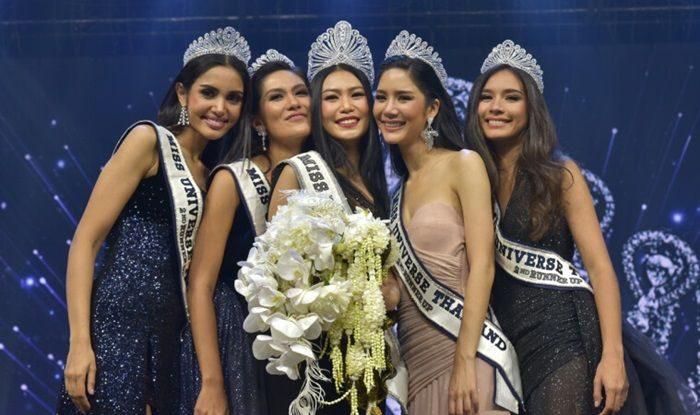นิ้ง โศภิดา มิสยูนิเวิร์สไทยแลนด์ 2018 และรองทั้ง 4 คน