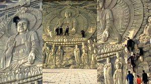 แห่ประณาม ! นักท่องเที่ยวจีน ปีนกำแพงเหยียบเศียรพระเพื่อถ่ายรูป