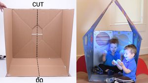 How -To D.I.Y สร้าง บ้านของเล่น ให้เด็กๆ ได้มีพื้นที่ของจินตนาการ
