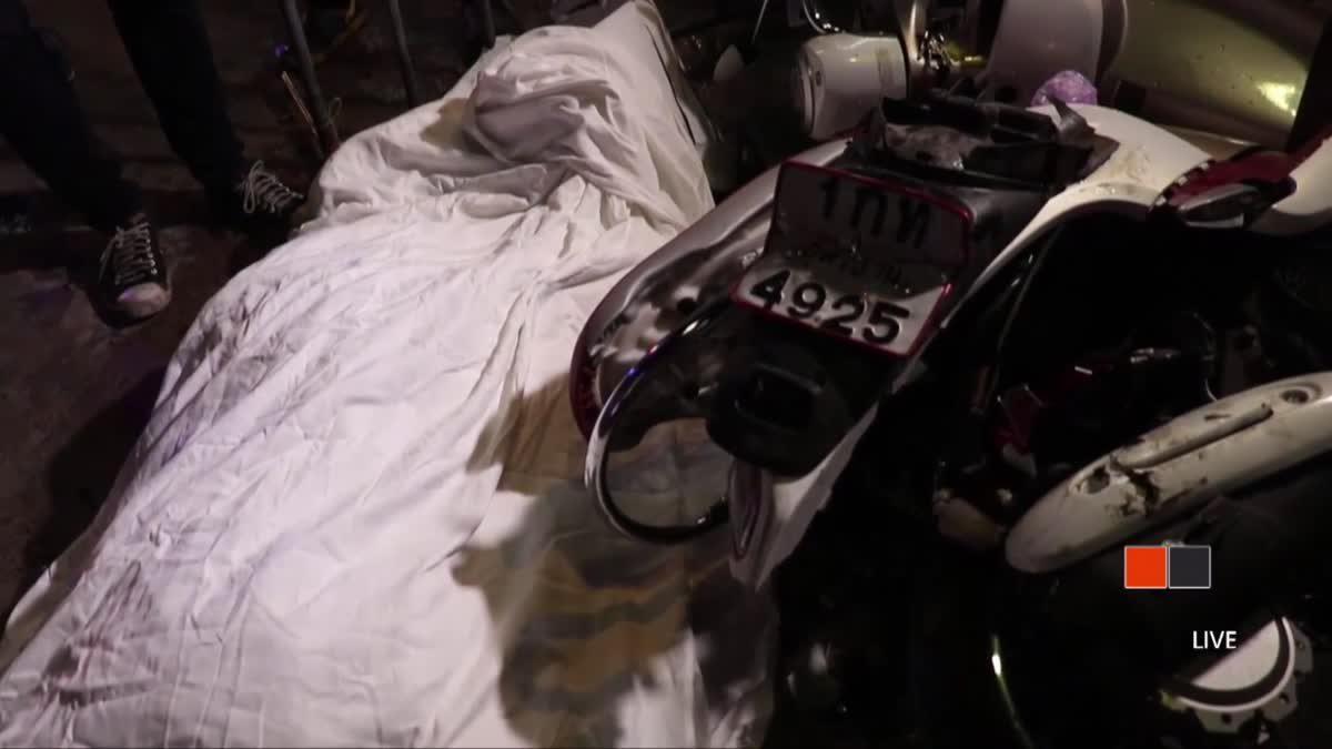 รถทัวร์จีนเบรคแตกพุ่งชนจยย.เสียชีวิต 1 คน