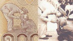 ภาพประวัติศาสตร์ ยายตุ้ม ถวายดอกบัว ในหลวง ร.9