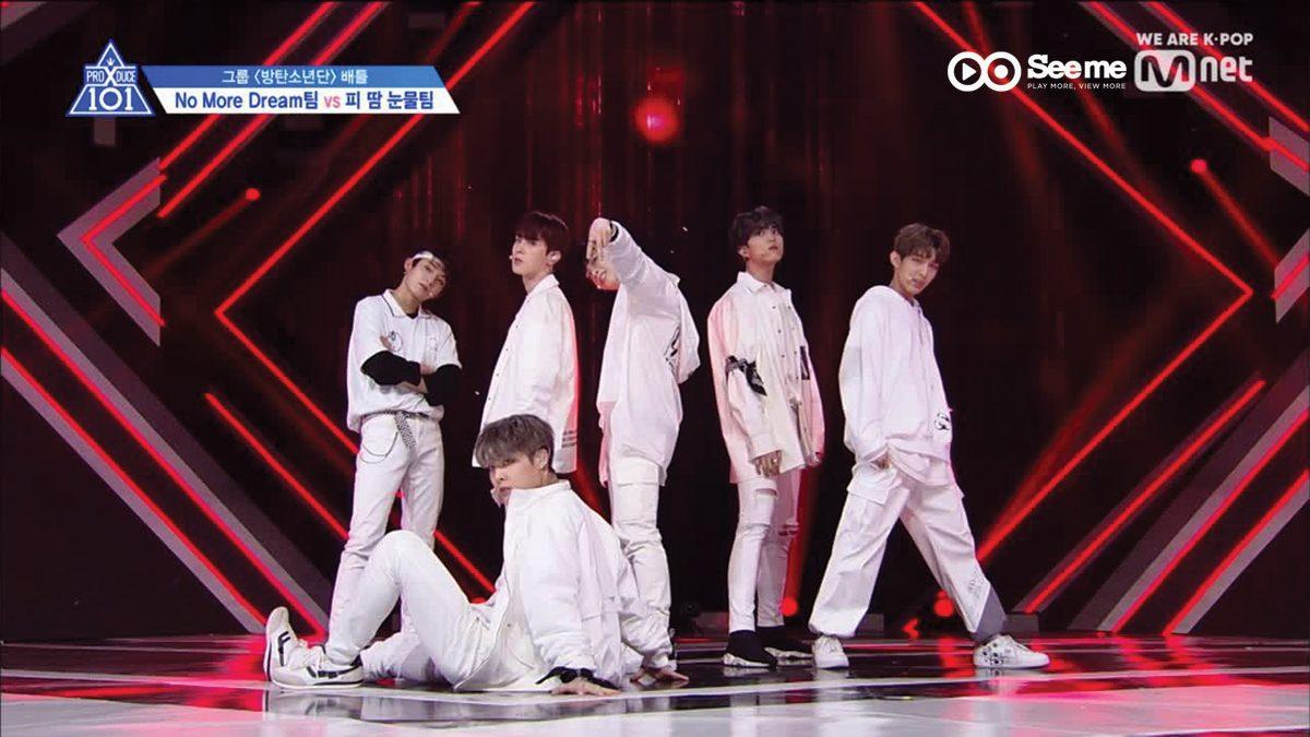 PRODUCE X 101 ㅣทีม P.T.S - BTS ♬NO MORE DREAM @การแข่งขันรอบ Group Battle [EP.3]