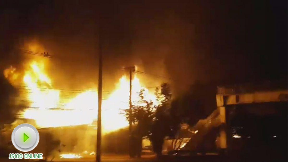 ไฟไหม้บ้านเรือนประชาชน อ.นิคมคำสร้อย จ.มุกดาหาร (03-11-2560)