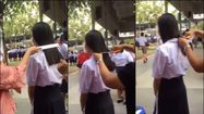 จวกยับ! คลิปครูใช้ไม้บรรทัดวัดผมนักเรียนหญิง ก่อนตัดจนสั้น