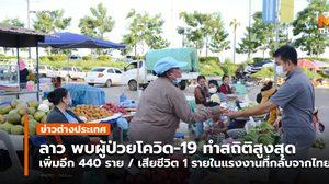 'ลาว' พบผู้ป่วยโควิด-19 ทุบสติถิใหม่ / มีผู้ป่วยกลับจากไทยเสียชีวิต 1 ราย