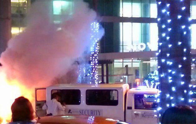 ระทึก! ไฟไหม้หน้าโรงแรมที่พัก ทีมชาติไทย ชุด ซูซูกิ คัพ 2016 ที่กรุงมะนิลา