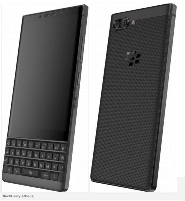 เผยภาพ BlackBerry Athena สมาร์ทโฟนกล้องคู่ตัวแรกของค่าย มีคีย์บอร์ด qwerty