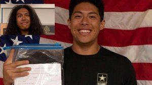 หนุ่มอเมริกันตัดผมครั้งแรกในรอบ 15 ปีเพื่อเข้ากองทัพรับใช้ชาติ