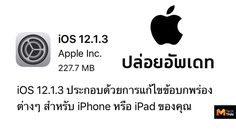 Apple ปล่อย อัพเดท iOS 12.1.3 แก้ปัญหาเสียงเพี้ยนใน iPad Pro