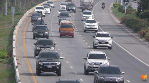 เริ่มทยอยกลับ!! คาดถนนสายเอเชียช่วงบ่ายปริมาณรถหนาแน่น