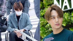 แฟนคลับห่วง! หลังสื่อเผยภาพอัพเดท ไค EXO ยังเจ็บ-นั่งรถเข็น!