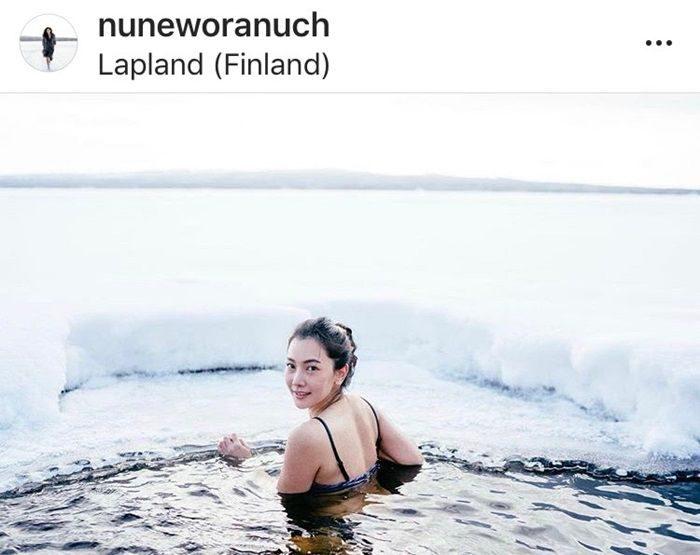 นุ่น วรนุช ในชุดว่ายน้ำ