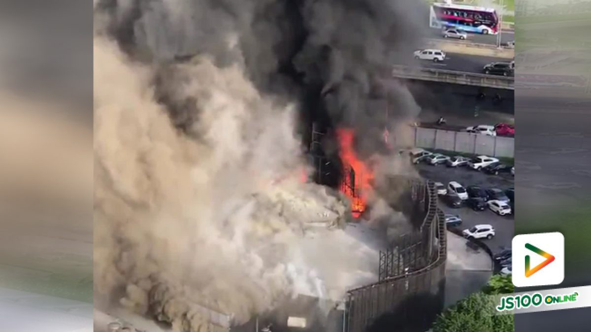 ไฟไหม้ตรงพระรามเก้า แถวตึกว่องวานิช RCA ค่ะ