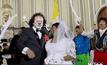 งานแต่งงานของนักแสดงตลกในเปรู