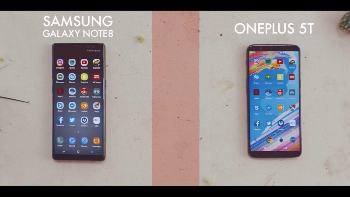 ฮาและเจ็บ!! โฆษณาใหม่ OnePlus 5T เลือกใช้ Note 8 ในการเปรียบเทียบความเร็ว
