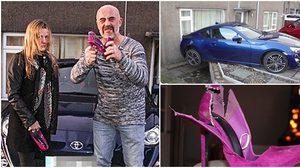 ปาทิ้งไปเลย!! สาวใส่ 'รองเท้าส้นสูง' ขับรถหรู จนเกิดอุบัติเหตุ เกือบชนบ้านตัวเอง
