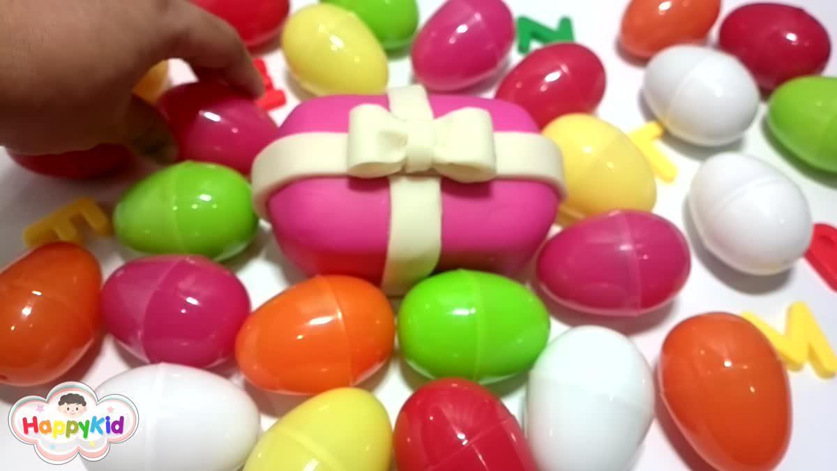 เรียนรู้ ABC | ไข่เซอร์ไพรส์ | อ่าน ABC | Learn The Alphabet With Surprise Eggs | Learn ABC