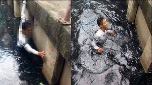 รุมสับมนุษย์กล้อง เอาแต่ถ่ายรูปไม่คิดช่วยคนตกน้ำ !!