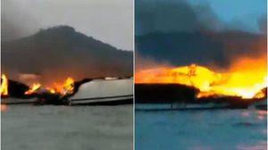 ระทึก! เกิดเหตุไฟไหม้เรือยอร์ช กลางทะเลภูเก็ต