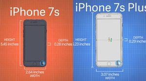 สื่อนอกเผยขนาด iPhone 7s และ iPhone 7s Plus มีความหนาจากรุ่นเดิมเล็กน้อย