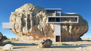 งานออกแบบ สถาปัตยกรรม วางแผนสร้างบ้านภายในหินก้อนยักษ์!