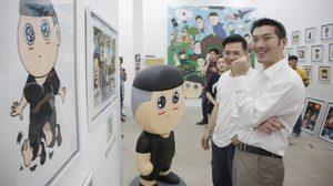 'ธนาธร' หัวหน้าพรรคอนาคตใหม่ ชมนิทรรศการศิลปะ 'ไข่แมว x กะลาแลนด์'