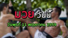โปรแกรมมวยไทยวันนี้ วันพุธที่ 11 เมษายน 2559