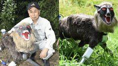 ชาวนาญี่ปุ่นไอเดียเจ๋ง คิดค้น หุ่นยนต์หมาป่าเฝ้าไร่ ไล่หมูป่า มีความน่ากลัวมาก