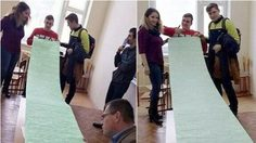 เป็นใครก็ตะลึง! นักศึกษารัสเซียทำโพยข้อสอบวิชาฟิสิกส์ที่ยาวที่สุด