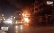 เกิดเพลิงไหม้เสาไฟลุกลามเผาอาคารพาณิชย์