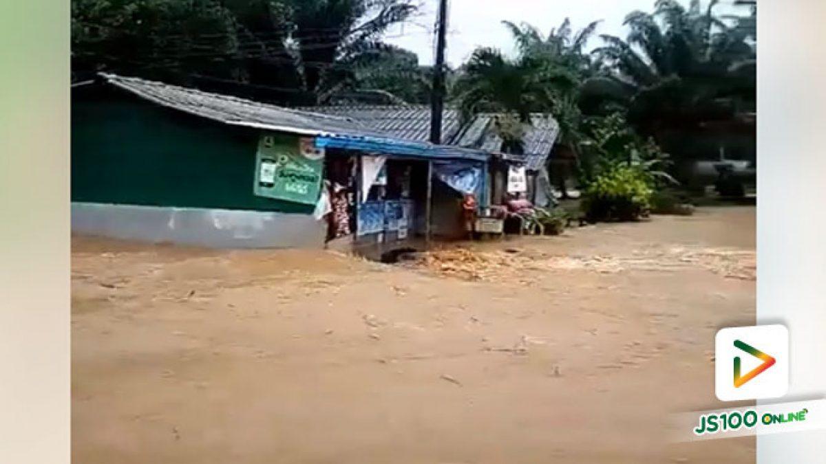 คลิปฝนตกหนัก ที่อำเภอพะโต๊ะ จังหวัดชุมพร ระวังอันตราย น้ำท่วมฉับพลัน (10-07-61)
