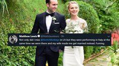 แมทธิว ลูอิส ลั่นระฆังวิวาห์กับแฟนสาว ที่อิตาลี!