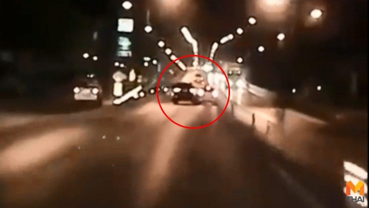 ตำรวจเร่งล่า!! ฟอร์จูนเนอร์ดำเบียดแจ๊สจนคนขับเสียชีวิต