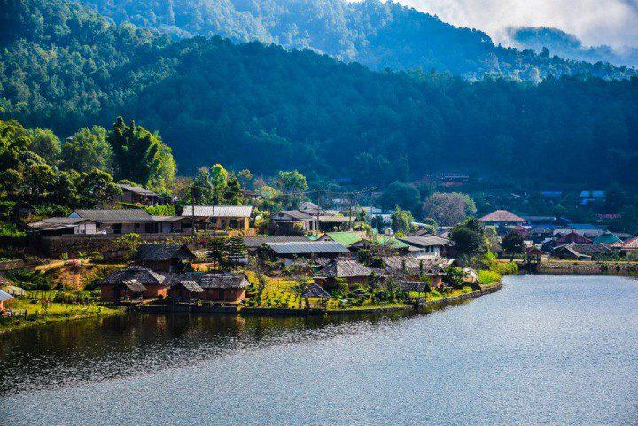 อ่างเก็บน้ำ บ้านรักไทย จังหวัดแม่ฮ่องสอน
