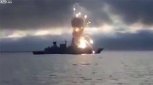 คลิปนาทีขีปนาวุธระเบิดใส่เรือรบเยอรมัน หลังเกิดความผิดพลาดระหว่างฝึก