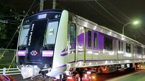 ในหลวงพระราชทานชื่อรถไฟฟ้าสายสีม่วง 'ฉลองรัชธรรม'