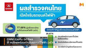 GWM ร่วมกับ นิด้าโพล ชี้คนไทยพร้อมเปิดรับรถยนต์ไฟฟ้า (xEV)