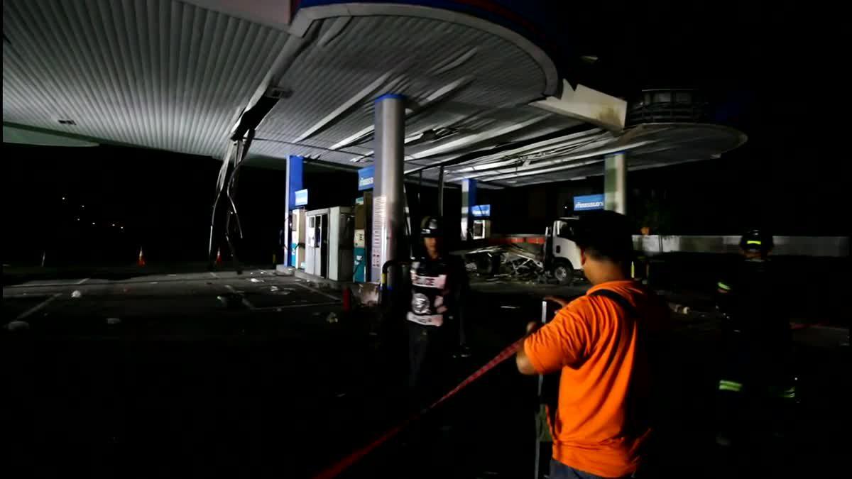 หวิดสลด! ปั๊มแก๊ส NGV ย่านปทุมฯระเบิดกลางดึก บาดเจ็บ 5ราย