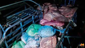 ปศุสัตว์ชลบุรีบุกจับกระบะขนย้ายซากสัตว์ กลางตลาดสดนาเกลือ