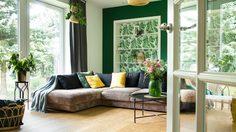ไอเดียแต่ง ห้องนั่งเล่นสีเขียว ให้ดูสดชื่นแบบมีสไตล์