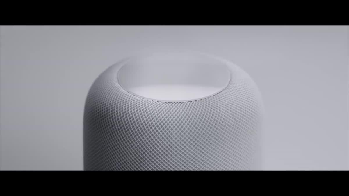 HomePod ลำโพงอัจฉริยะ จาก Apple ใช้สั่งงานด้วยเสียงมาพร้อมไมค์ 6 ตัวรอบทิศทาง