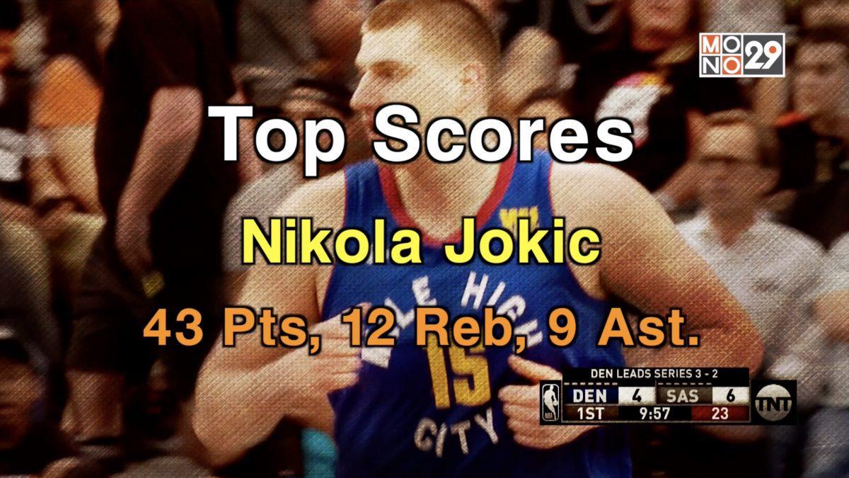 Top Scores Nikola Jokic 43 Pts, 12 Reb, 9 Ast.