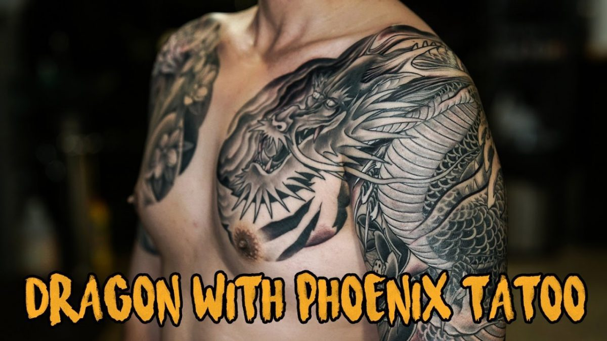 DRAGON WITH PHOENIX TATTOO รอยสักมังกรกับนกฟินิกซ์